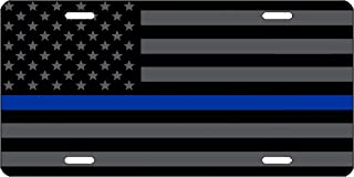 Thin Blue Line Blue Lives Matter Flag License Plate Novelty Auto Car Tag Vanity Gift For Police Officer