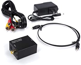 Analog to Digital Audio Converter Kit - Analog Stereo to Digital Optical Converter Adapter with Toslink and RCA Cables