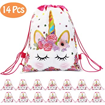 Drawstring Unicorn Goodie Bags Bulk Candy Bags Unicorn Party Favors for Girls for Unicorn Party Supplies School Classroom Prizes Joyin Inc Unicorn Pinata Baby Shower 12 Pack Unicorn Party Decorations