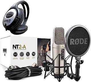 Rode NT2-A–Juego de micrófono + Auriculares de diadema Keepdrum) + + +