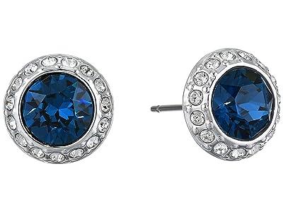 Swarovski Angelic Stud Pierced Earrings (Montana Blue) Earring