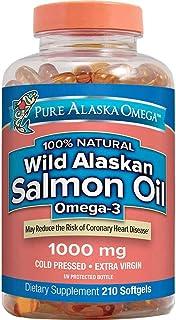 Pure Alaska Omega-3 Wild Alaskan Salmon Oil 1000mg 210 ct