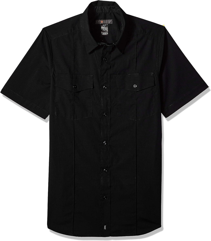5.11 Tactical Men's Stryke Class A PDU Short-Sleeve Button-Up Shirt, Flex-Tac Stretch Fabric, Style 71037