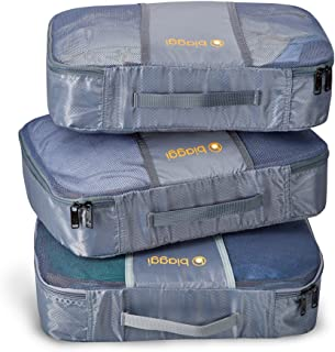 Biaggi Zipcubes- 3 Packing Cubes and Laundry/Shoe Bag - Large - As Seen on Shark Tank