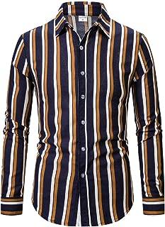 Luckycat Hombre Camisa Manga Larga Slim Fit Camisa Hombre