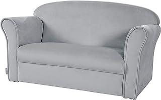 Roba Lil Sofa Canapé pour enfant avec accoudoirs pour garçons et filles, canapé confortable avec revêtement en velours gri...