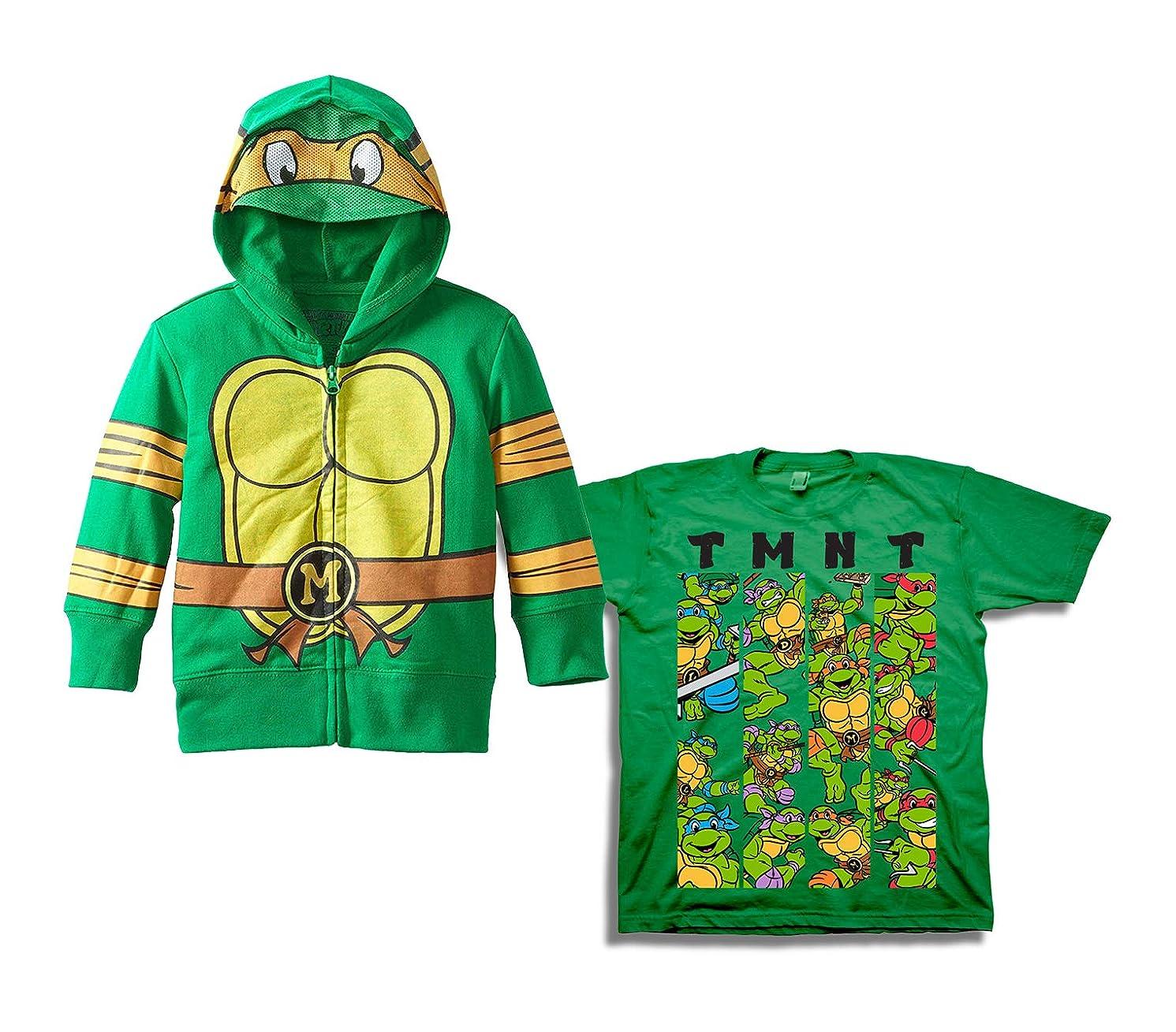 Teenage Mutant Ninja Turtles Set - 2 Pack of Teenage Mutant Ninja Turtles Hoodie and Tee