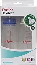 Pigeon Peristaltic Nursing Bottle Twin Pack (Blue/White) - 240 ml