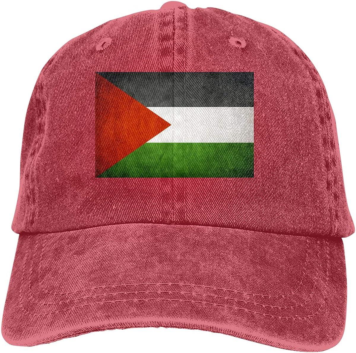 Retro Palestinian Flag Denim Hat Adjustable Plain Cap Baseball Caps