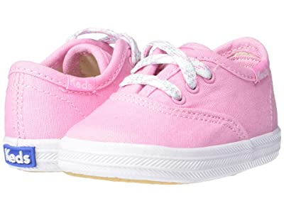 Keds Kids Champion Crib (Infant/Toddler) (Pink Canvas) Girl