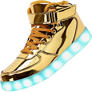 Unisex LED Shoes High Top Light Up Sneakers for Women Men Girls Boys Size4.5-13