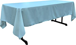 LA Linen Polyester Poplin Rectangular Tablecloth, 60 by 120-Inch, Turquoise Light