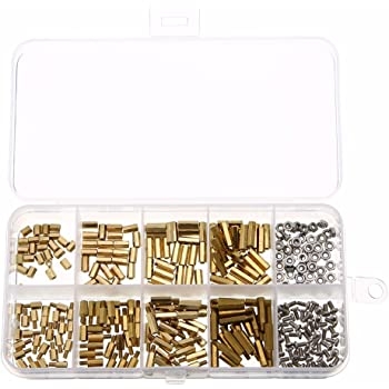 Akozon 300pcs M3 Brass Standoffs Hex Male-Female /& Female-Female Stand-Off DIY Set for Motherboard