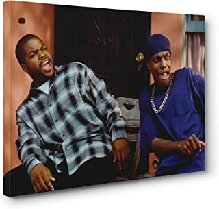 Friday Movie Ice Cube Chris Tucker Wall Art Gallery Wrapped Canvas Print (24x36in. Large, 03)