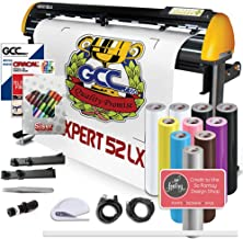 GCC Professional Expert II LX Vinyl Cutter 52 Inch Wide Creative Bundle with Stand & Aligning System for Contour Cutting