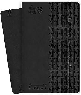 دفتر اكسبو 2020 دبي بحجم A5 بتصميم تقليدي اسود - 13.5 × 21 × 1.4 سم
