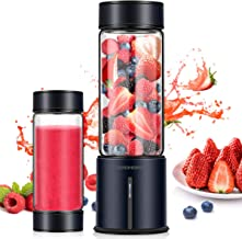 REDMOND Portable Blender, Personal Blender 5000mAh USB Rechargeable 16oz Glass Travel..