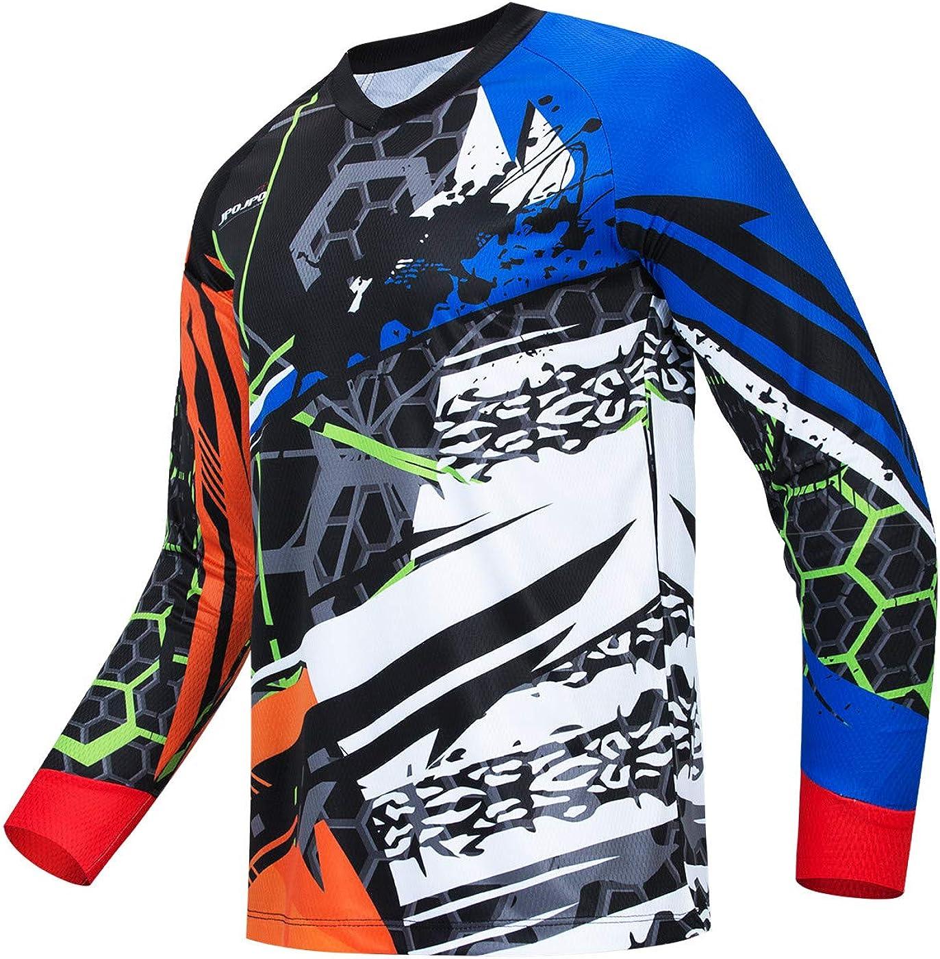 Hotlion Cycling Jersey Men Long Shirt Sleeve MTB 5 ☆ San Jose Mall very popular Off-R Motocross