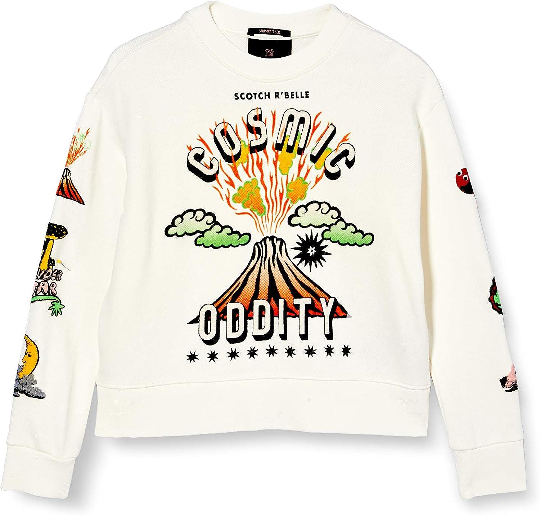 Scotch /& Soda Girls Crewneck Sweat with Artworks Sweatshirt