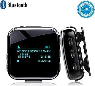 MP3 BEAUFLW 8GB Reproductor de MP3 Bluetooth, Reproductor de Música Portátil con Clip, Reproductor de Música Deportiva con Auriculares, Radio FM y Grabadora de Voz