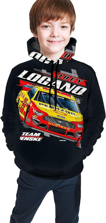 FUPOGEG Joey Logano Teenage Sweater/Hooded Girls And Boys Can Wear Comfortably And Stylishly,7-8 Years