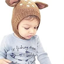 Baby Boy Girl Warm Knit Earflap Beanie Hat Toddler Newborn Kids Crochet Skull Cap