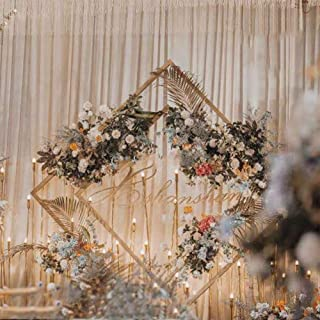 1Diamond Metal Wedding Arch Background من الحديد المطاوع رفوف ديكور دعائم DIY جولة حزب الخلفية الرف إطار 1.5 متر