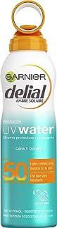 Garnier Delial UV Water Bruma Protectora Refrescante, Muy Alta Protección Solar para Cuerpo y Rostro IP50 - 200 ml