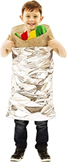 Burrito Costume For Kids | Fun & Festive Halloween & Cosplay Outfit | Easy Pull Over Design | Sized To Fit Most Children