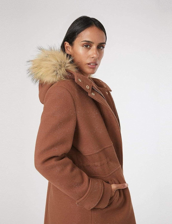 Shuuk Parka Jacket with Faux-Fur Trim