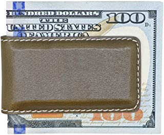 Made in USA - Genuine Leather Money Clips - American Factory Direct - Extra Strong Shielded Magnets - Real Leather Creations
