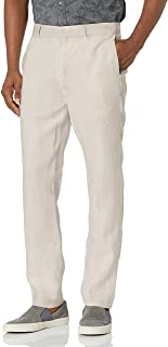 Cubavera mens Delave Linen Flat Front Flat Front Pant Dress Pants