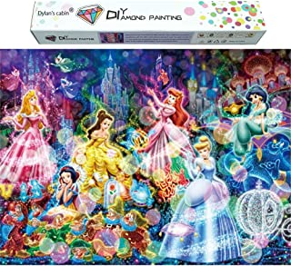 Dylan's Cabin DIY 5D Diamond Painting Kits for Adults,Full Drill Embroidery Paint with Diamond for Home Wall Decor(princess/16x20inch)