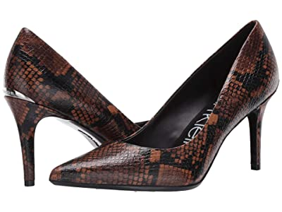 Calvin Klein Gayle Pump (Cuoio/Dark Walnut) High Heels