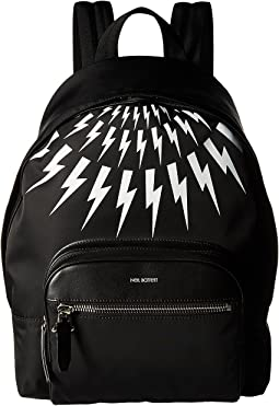 Neil Barrett - Thunderbolt Fair Isle Flap Backpack