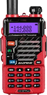 Baofeng - Walkie-Talkie VHF/UHF, 2 m/70 cm, Radio, UV-5R Plus, Color Rojo