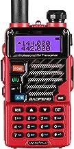 BaoFeng UV-5R Plus Qualette 5W Dual Band Two Way Radio Walkie Talkies (Flame Red)