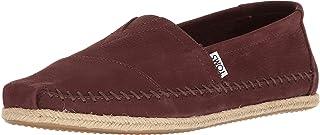 TOMS Men's Classic Slip-On Canvas Ankle-High Flat Shoe (Dark Tortoise Shell Brown Nubuck/Rope