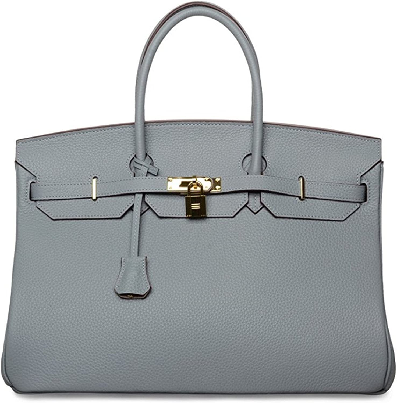 40cm Oversized Padlock Business Office Top Handle Handbags Light bluee