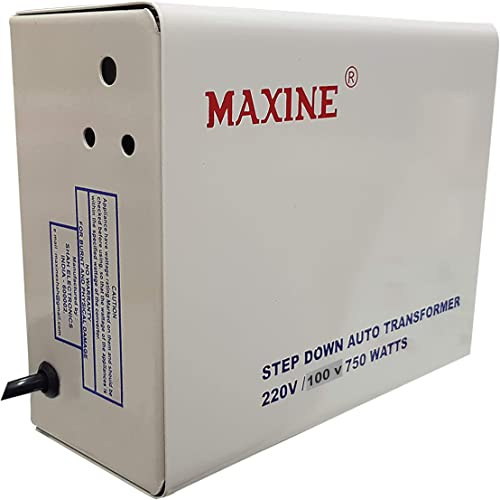 Maxine Voltage Converter for Japan Products to be Used in India 220v to 100v 750Watt Electronic Device Converter 100 Copper Winding