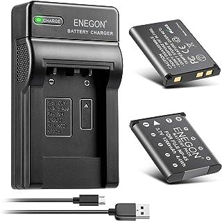 ENEGON NP-45 NP-45A NP-45B NP-45S互換バッテリー(1200mAh 2個)+デュアルUSBチャージャーキットFujifilm INSTAX Mini 90, FinePix XP20 XP22 XP30 XP50 ...