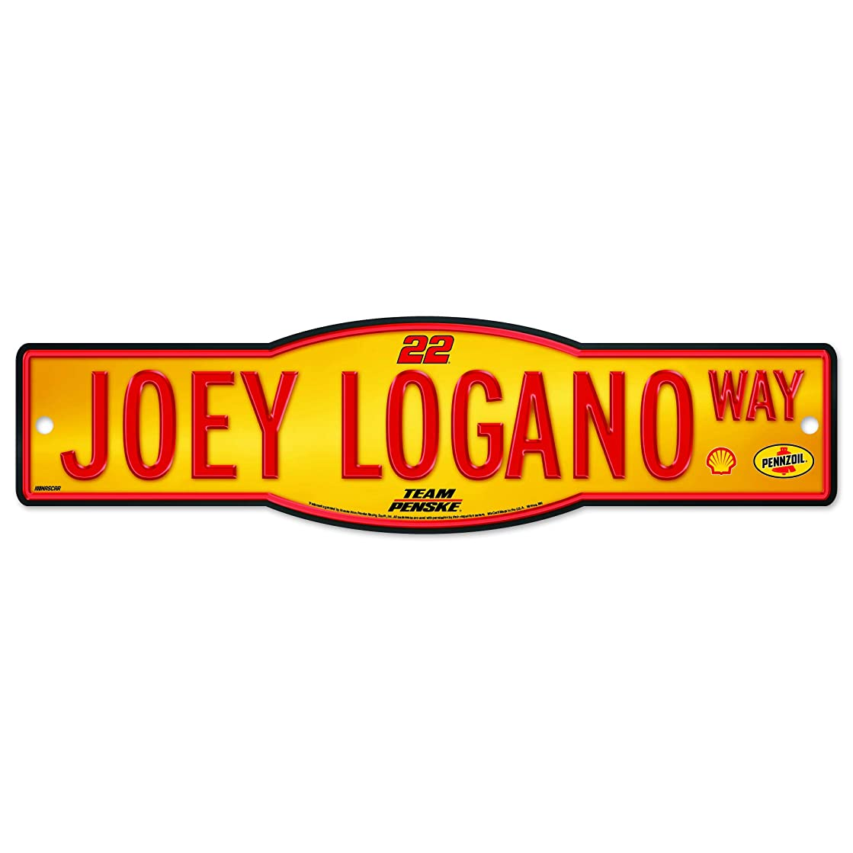 強調する女性説得Joey Logano # 22?Street Sign 4?