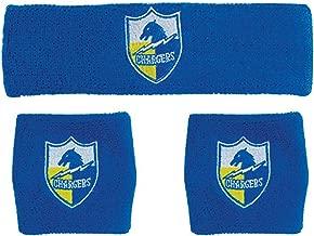 NFL San Diego Chargers Wristbands & Headband Set, Blue, One Size