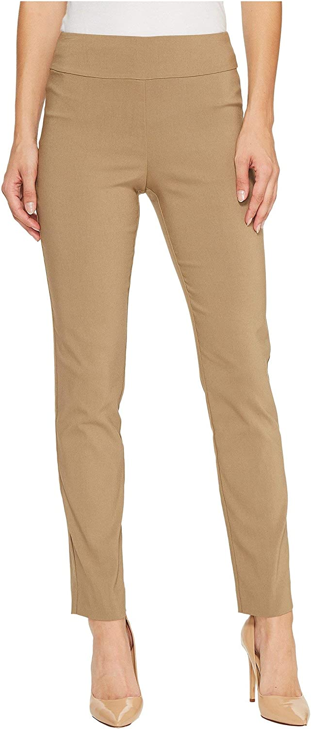 Krazy Larry Womens Pull on Ankle Pants Taupe 8