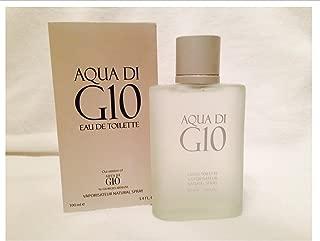 AQUA DI G-10 our Impression of Aqua Di Gio for Men by Urban Collection. 3.4 Oz, 100 Ml Eau De Toilette Natural Spray.