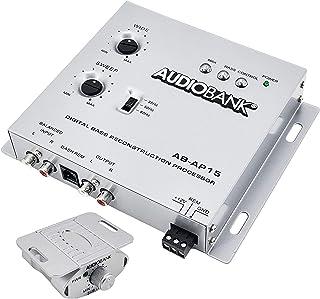 Audiobank 1/2 Din Car Audio Digital Bass Processor, Sound Restoration & Crossover for Car Subwoofer with Bass Knob/Input L... photo