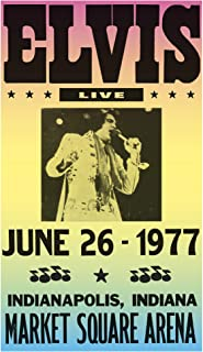 "Elvis Presley Live - Market Square Arena - Indianapolis, Indiana 13""x22"" Vintage Style Showprint Poster - Concert Bill - Home Nostalgia Decor Wall Art Print"