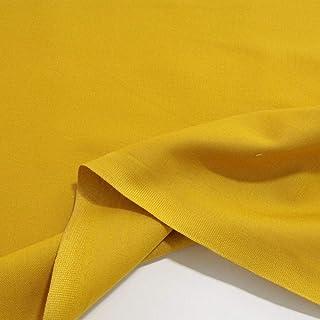 TOLKO Baumwollstoff | 42 kräftige ÖkoTex Farben Baumwoll-Nesselstoff uni Kleiderstoff Dekostoff | Baumwolle Meterware 150cm breit | Vorhang-Stoff Bezugsstoff Webstoff 50cm Senf