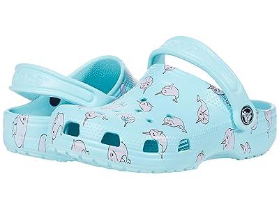 Crocs Kids Classic Majestic Creature Clog (Toddler/Little Kid) (Ice Blue) Girl