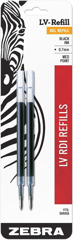 Zebra Sarasa RDI LV-Refill Sale special price Medium Point half Black 0.7mm Ink 2-Co